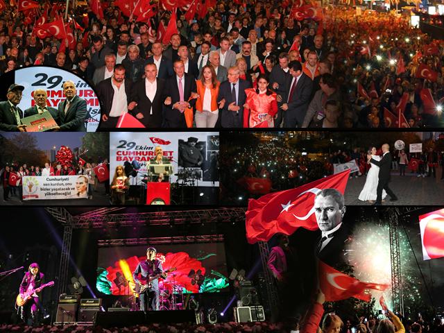 Cumhuriyet'in 96.Yıl Dönümü Fener Alayı Yürüyüşü Ataşehir'de Mor ve Ötesi Konseri ile Çoşkuyla Kutlandı