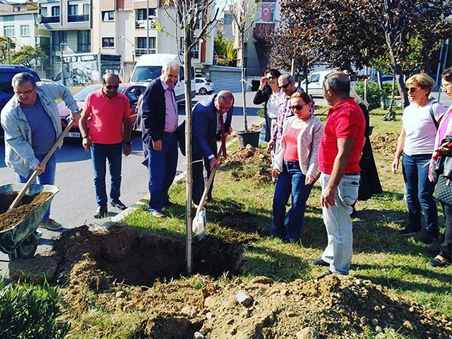 Fetih Mahallesi Muhtarlığı 'Atatürk' için ağaç dikti