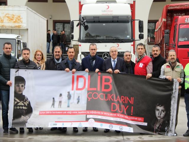 Ataşehir'den İdlib'e Yardım Malzemeleri Yola Çıktı