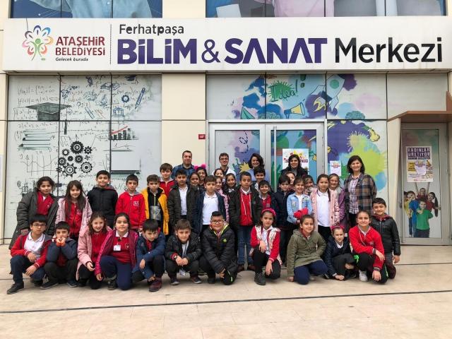 Çocuklar Ferhatpaşa Bilim ve Sanat Merkezi'ni Ziyaret Etti