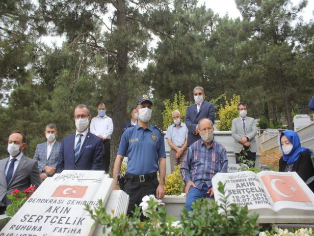 Ataşehir'li 15 Temmuz Şehidi Akın Sertçelik Dualarla Anıldı