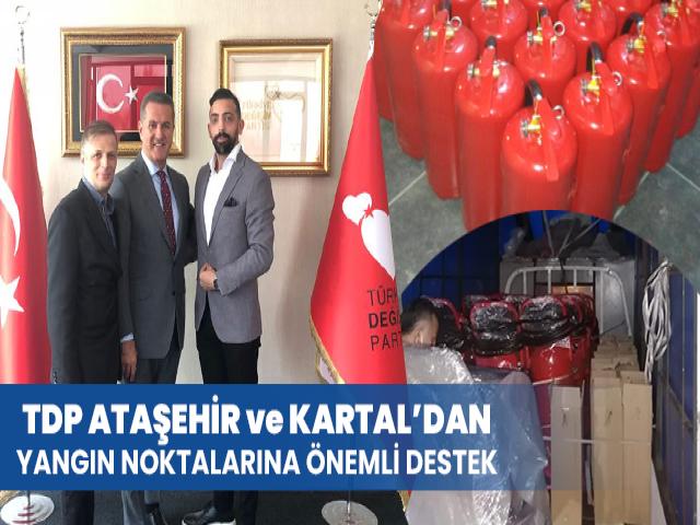 TDH Ataşehir ve Kartal'dan Yangın Bölgesine 430 Yangın Tüpü Gönderildi