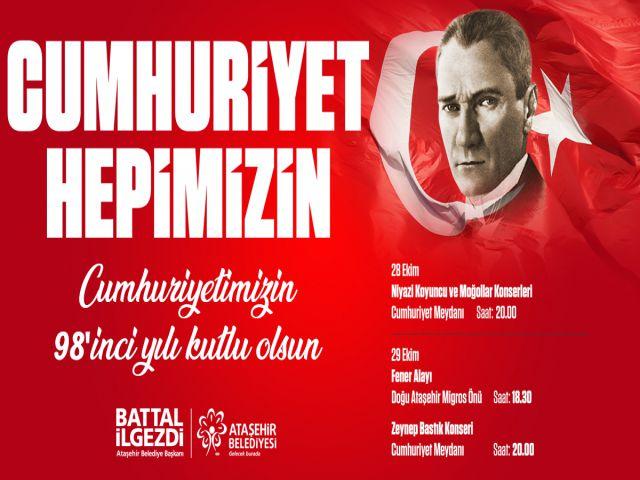 Ataşehir'de Cumhuriyet Bayramı Bir Başka Kutlanacak!