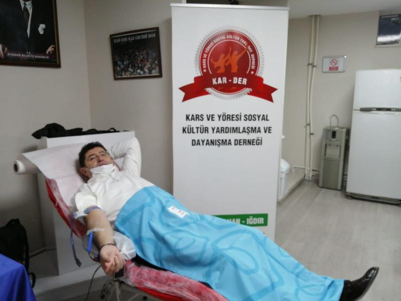 2021 Yılının İlk Kan Bağışı Kampanyasını Ataşehir'de KAR-DER düzenledi