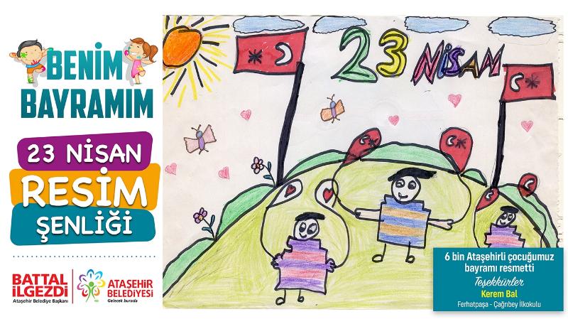 Ataşehir'li 6 Bin Çocuk 23 Nisan'ı Resmettiler