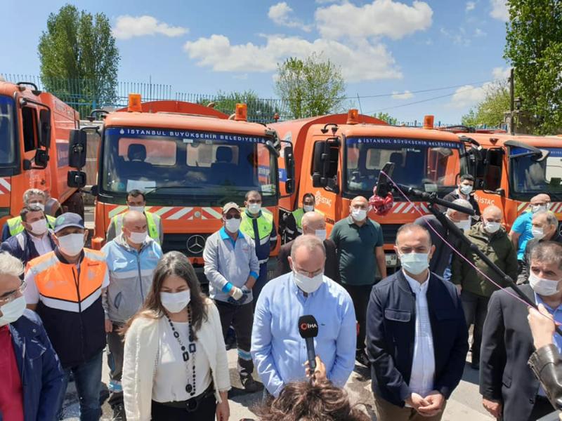 İBB ve Ataşehir Belediyesi İşbirliği ile Ataşehir'de Bahar Temizliği Yapıldı
