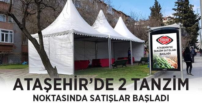 Ataşehir'deki 2 Tanzim Noktasında Ucuz Meyve ve Sebze Satışları Başladı