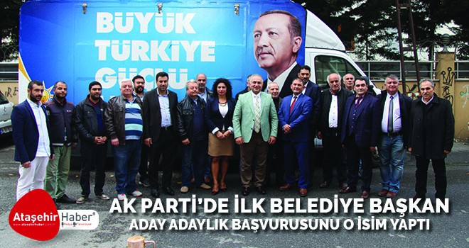 AK Parti Ataşehir'de Belediye Başkanlığı için İlk Başvuru Fatih Sinan Yılmaz'dan