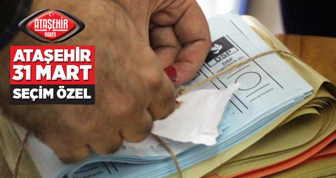 Ataşehir ve Tüm Türkiye'de Sandıklar Kapandı! Oylar sayılmaya başlandı