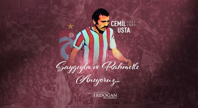 Cumhurbaşkanı Erdoğan, Cemil Usta için anma mesajı paylaştı