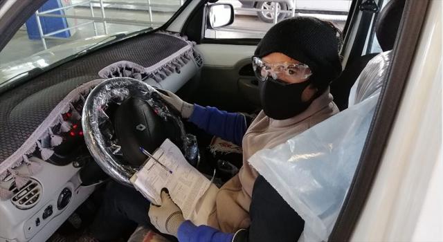 Araç muayene işlemleri alınan önlemlerle devam ediyor