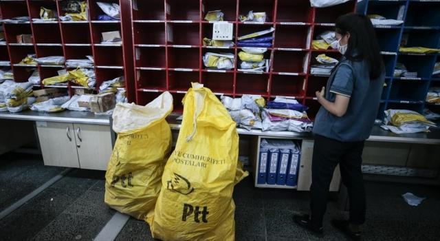 PTT dağıtım personelinin Kovid19 mesaisi sürüyor