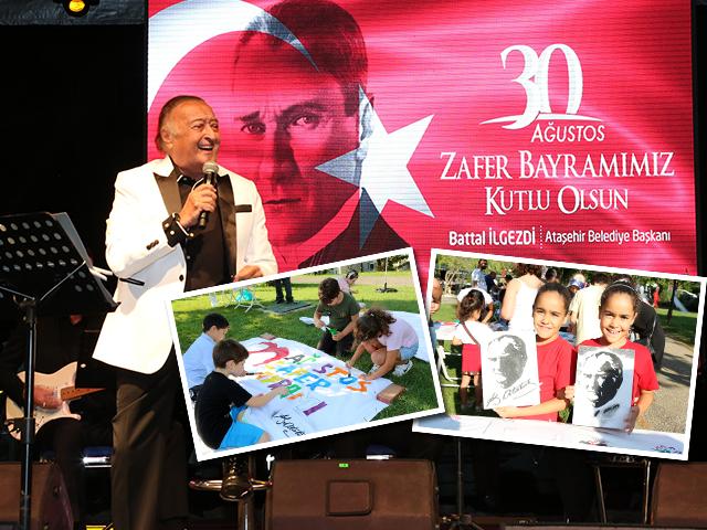 Ataşehir'de 30 Ağustos Çoşkusu atölyeler, söyleşiler ve konser ile sona erdi
