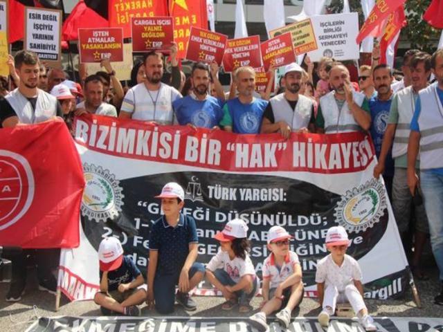 Cargill işçileri 500 gününde Ataşehir'deki mücadelelerini sürdürüyor