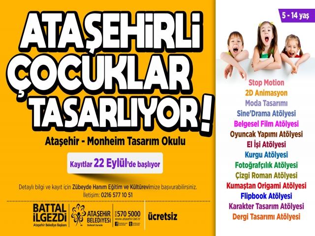 Ataşehir Monheim Tasarım Atölyesi yeni öğrencilerini bekliyor