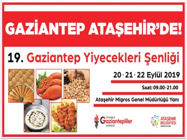 Ataşehir'de Gaziantep Yiyecek Günleri Başlıyor