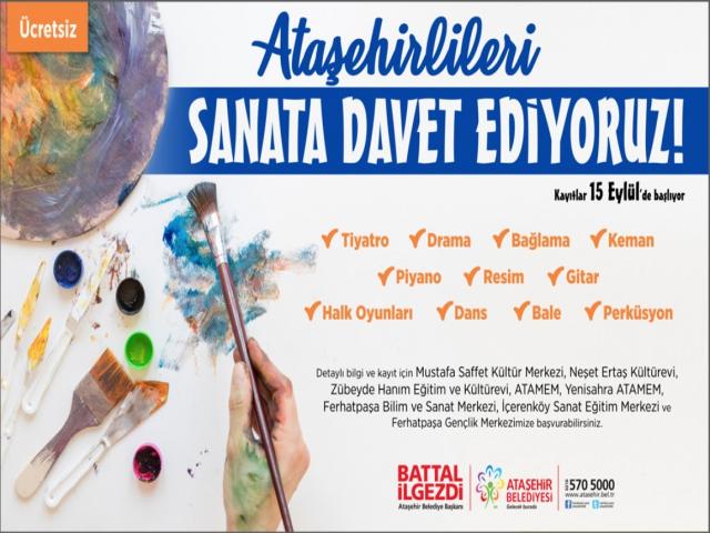 Ataşehir'de kış sanat kursları başlıyor