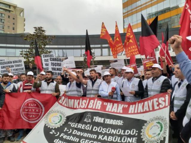 Cargill'ten atılan işçiler Ataşehir'de 526 gündür direnişte: 'Güçlü bir şekilde uyarıyoruz!'