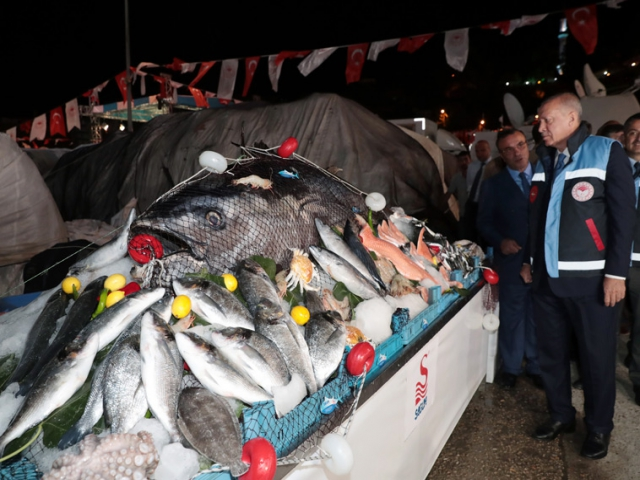 Cumhurbaşkanı Erdoğan, su ürünleri av sezonunun açılış programına katıldı