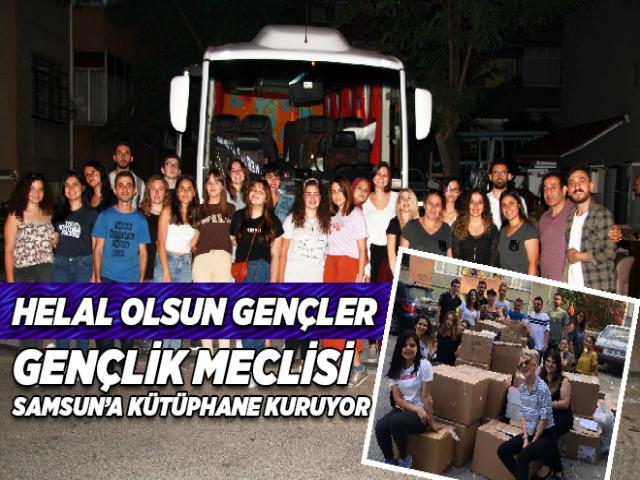 Gençlik Meclisi Ataşehir'den Samsun'a Kütüphane Kuruyor