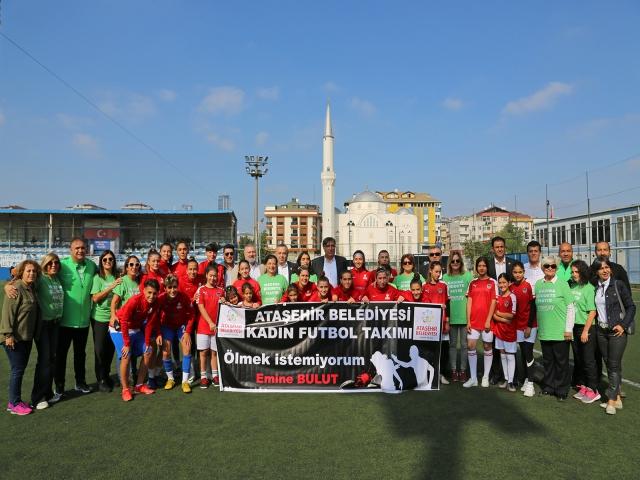 Ataşehir Belediyespor Ligin ilk maçına 'Kadına Şiddete Hayır' diyerek çıktı