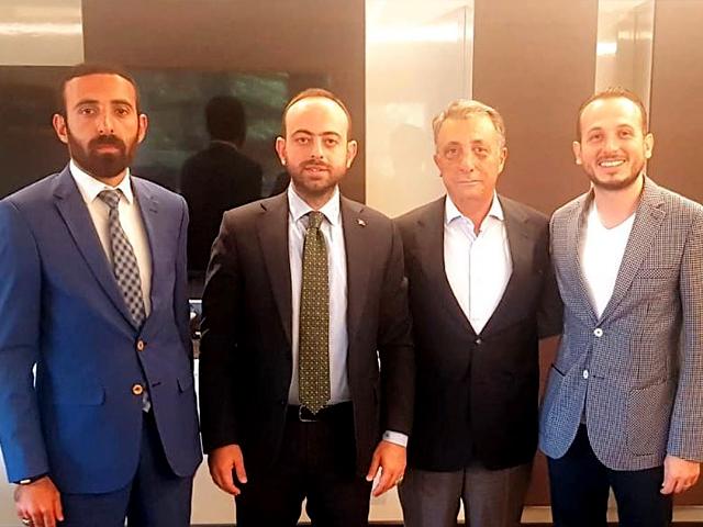 Özkaya'dan BJK'nin yeni başkanı Çebi'ye hayırlı olsun ziyareti