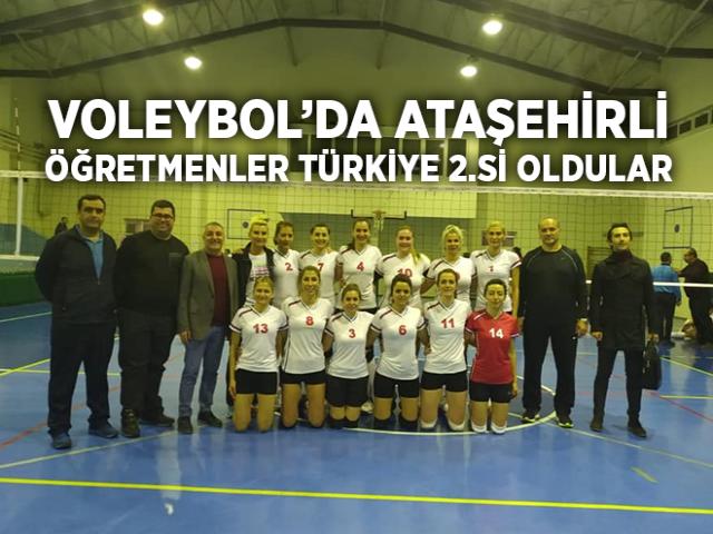 Ataşehir Kadın Öğretmenler Voleybol Takımı Türkiye İkincisi Oldu