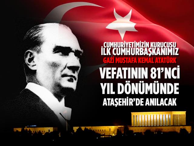 Ataşehirliler 10 Kasım'da Atatürk'ü etkinliklerle anacak