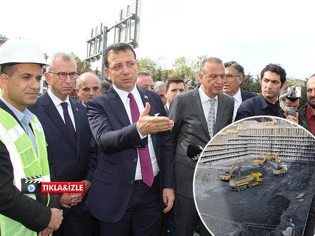 İmamoğlu, Ataşehir'deki Ülker Spor Arena Önündeki Metro Çalışmasını İnceledi