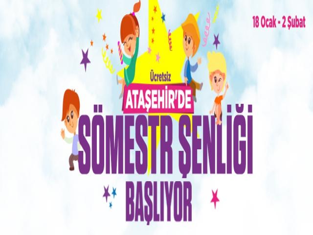 Ataşehir' de Yarıyıl Tatili Çok Güzel Geçecek