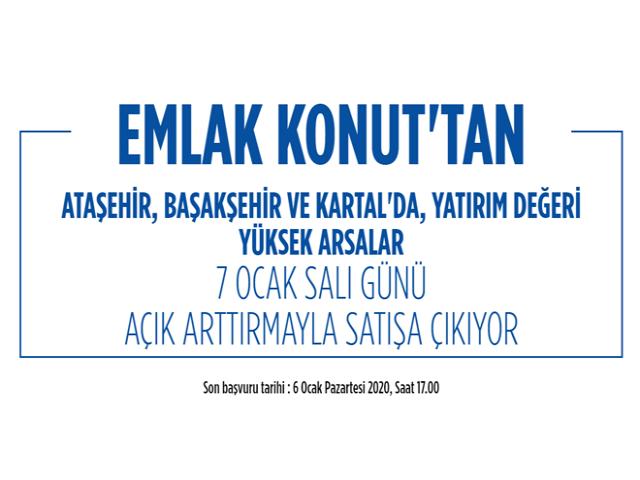 Emlak Konut Ataşehir'deki arsasını satılığa çıkardı