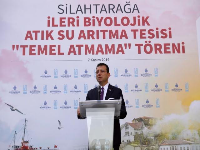 İmamoğlu,' Silahtarağa Arıtma Tesisi Temel Atmama Töreni' düzenledi