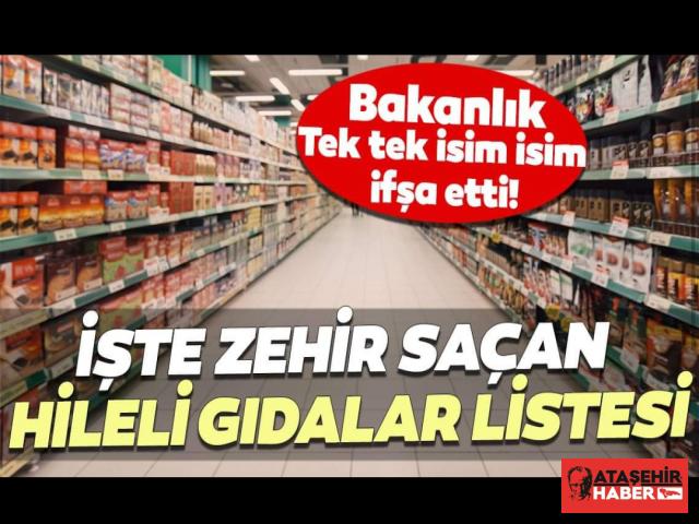 Bakanlık gıdada taklit ve tağşiş eden firmaları açıkladı! Ataşehir'den iki firma listede yer aldı