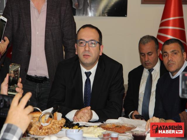 CHP Ataşehir, yerel basın ile 10 Ocak Çalışan Gazeteciler Günü nedeniyle biraraya geldi