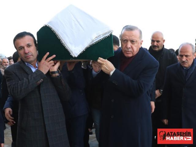 Cumhurbaşkanı Erdoğan, Azize Acar'ın cenaze törenine katıldı