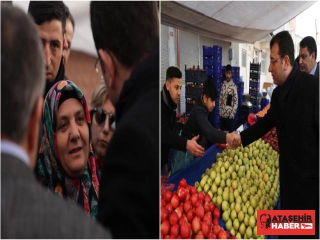 """İmamoğlu, Sultanbeyli Pazarında: """"Ülkenin Öncelikleri Pazarlarda"""""""