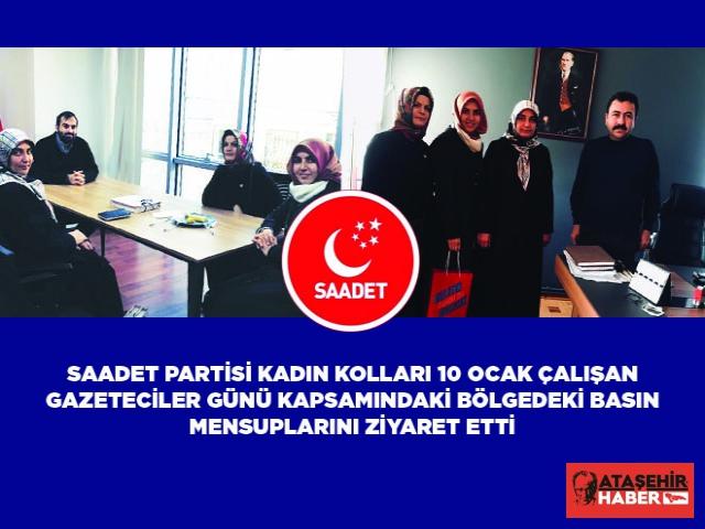 Saadet Partisi Ataşehir İlçe Kadın Kolları'ndan Gazetelere Anlamlı Ziyaret