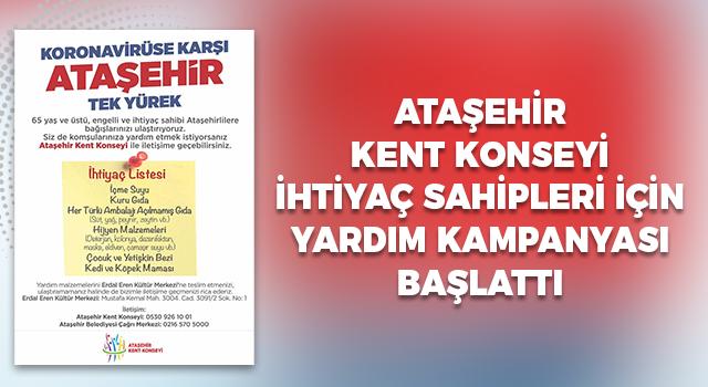 Ataşehir Kent Konseyi ihtiyaç sahipleri için yardım kampanyası başlattı