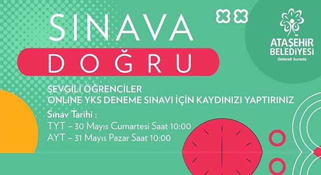 Ataşehir Belediyesi Eğitim Merkezi Öğrencileri Online YKS'ye hazırlıyor