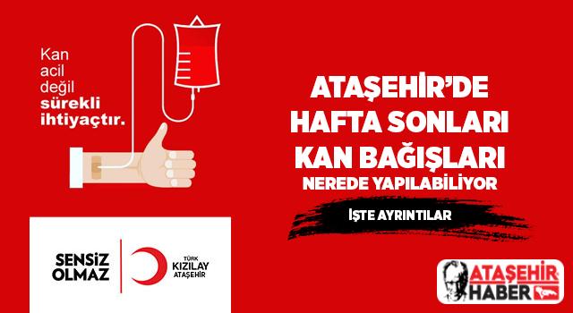 Ataşehir'de hafta sonları kan bağışı kampanyaları aralıksız sürüyor!
