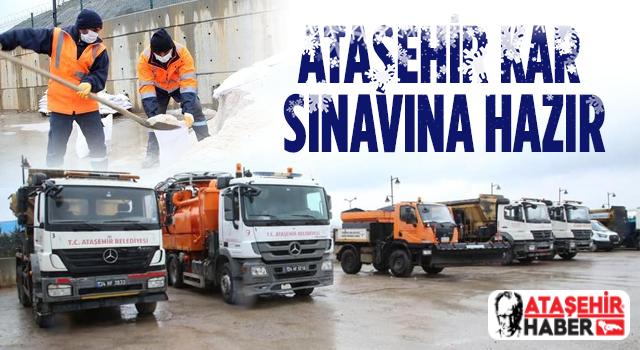 Ataşehir Kar Sınavına Hazır!