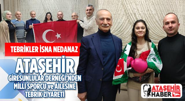 Ataşehir'li Genç Milli Sporcu'ya Ataşehir Giresunlular Derneği'nde Tebrik Ziyareti