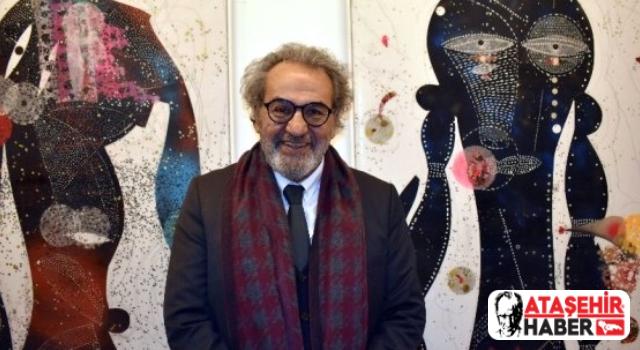 İmamoğlu ve İlgezdi, Ünlü Ressam Hüsamettin Koçan'ı Ataşehir'deki evinde ziyaret etti