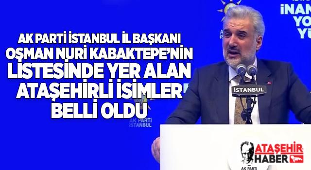 Osman Nuri Kabaktepe'nin A Takımında Yer Alan Ataşehirli İsimler Kimler! İşte ayrıntılar