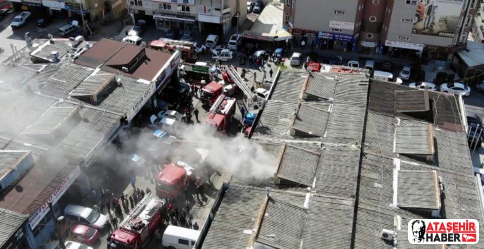 Bostancı Oto Sanayi Sitesi'ndeki Yangın Korkuttu