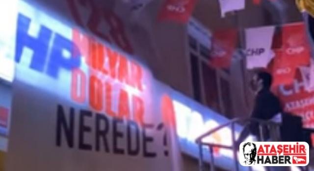 CHP Ataşehir'in 128 Milyar Dolar Nerede Sorusuna Polis Müdahalesi!