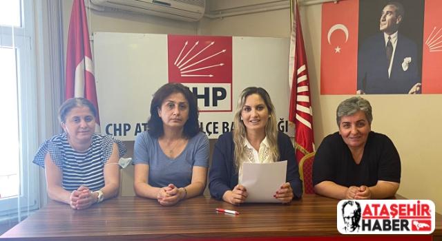 CHP Ataşehir İlçe Kadın Kolları'ndan Ortak Basın Açıklaması
