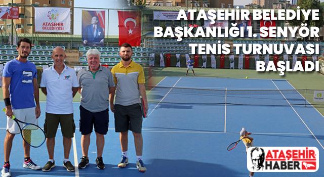 Ataşehir'de 1. Senyör Tenis Turnuvası Başladı