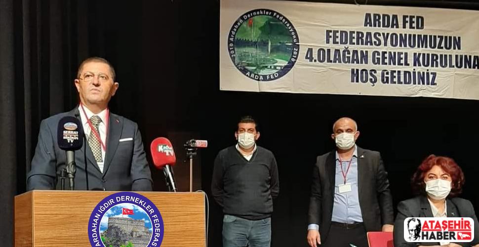 Ardahan Dernekler Federasyonu(ARDA-FED) Başkanlığı'na Orhan Çerkez Seçildi