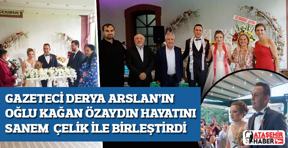 Gazeteci Derya Arslan'ın Mutlu Günü! Oğlu Kağan Özaydın Hayatını Sanem Çelik ile Birleştirdi